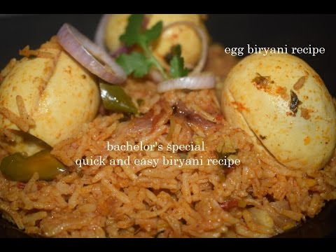 Quick and Easy Egg biryani recipe in Pressure cooker/Egg Biryani in Kannada/Egg Pulao recipe