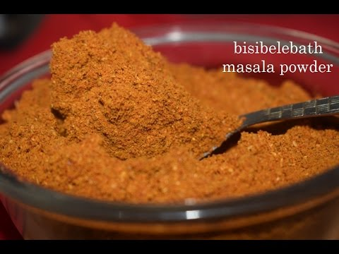 Bisibelebath powder in kannada/Authentic home made spice powder to prepare Bisibelebath