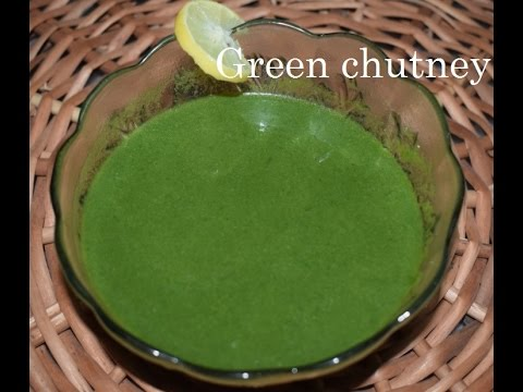 Green Chutney for chats recipe in Kannada/ Quick Chutney/How to make Green Chutney