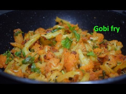 Simple gobi fry/ Hookos fry/ Cauliflower fry in kannada/ Gobi recipes