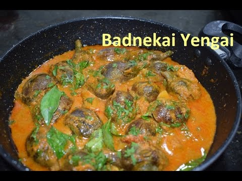 Stuffed baingan curry / Yengai gojju / Ennegai/Brinjal curry/ Thumbu badnekai in kannada